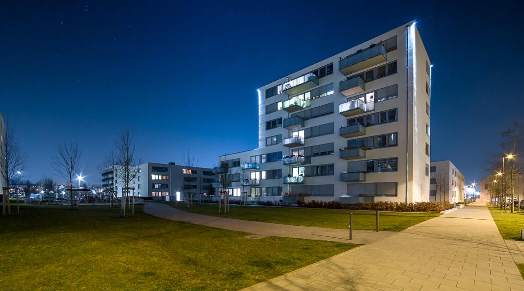 Stadtquartier München Nacht
