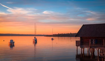 Boathouse Ammersee Sunset
