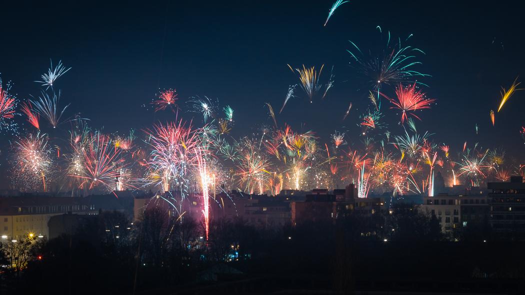 Feuerwerk Silvester München 2012 2013