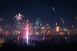 Feuerwerk Silvester München 2013