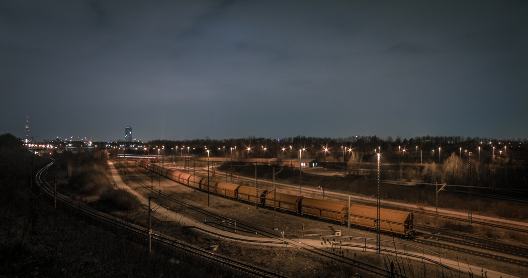 Rangierbahnhof München Nord Nacht