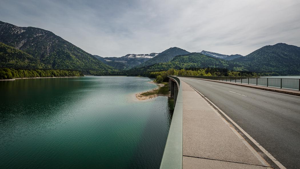 Sylvensteinspeicher See Alpen Brücke