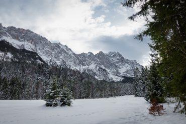 Zugspitze Garmisch Partenkirchen Schnee Winter