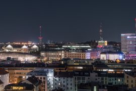 Munich City From Above Night View