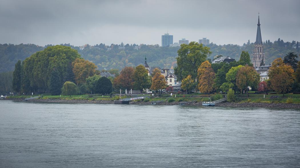 Koblenz Rheinland Pfalz Uferpromenade Rhein