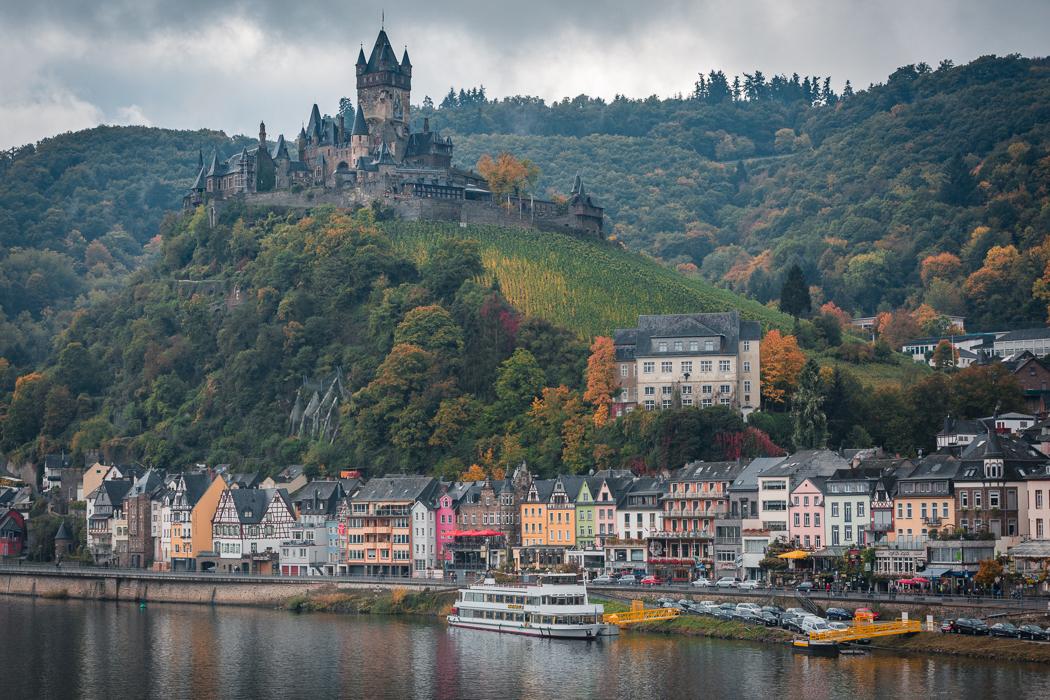 Koblenz Rheinland Pfalz Reichsburg Cochem Mosel Schiff