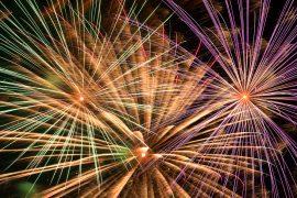 Feuerwerk Sylvester Bunt