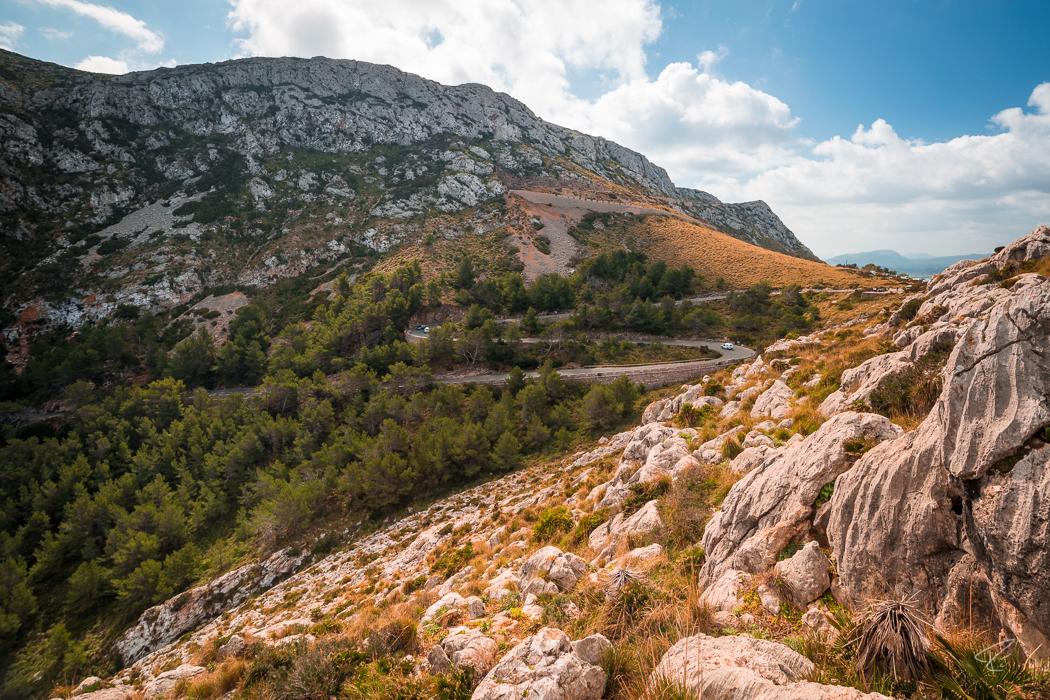 Mallorca Cap Formentor Tramuntana road Spain