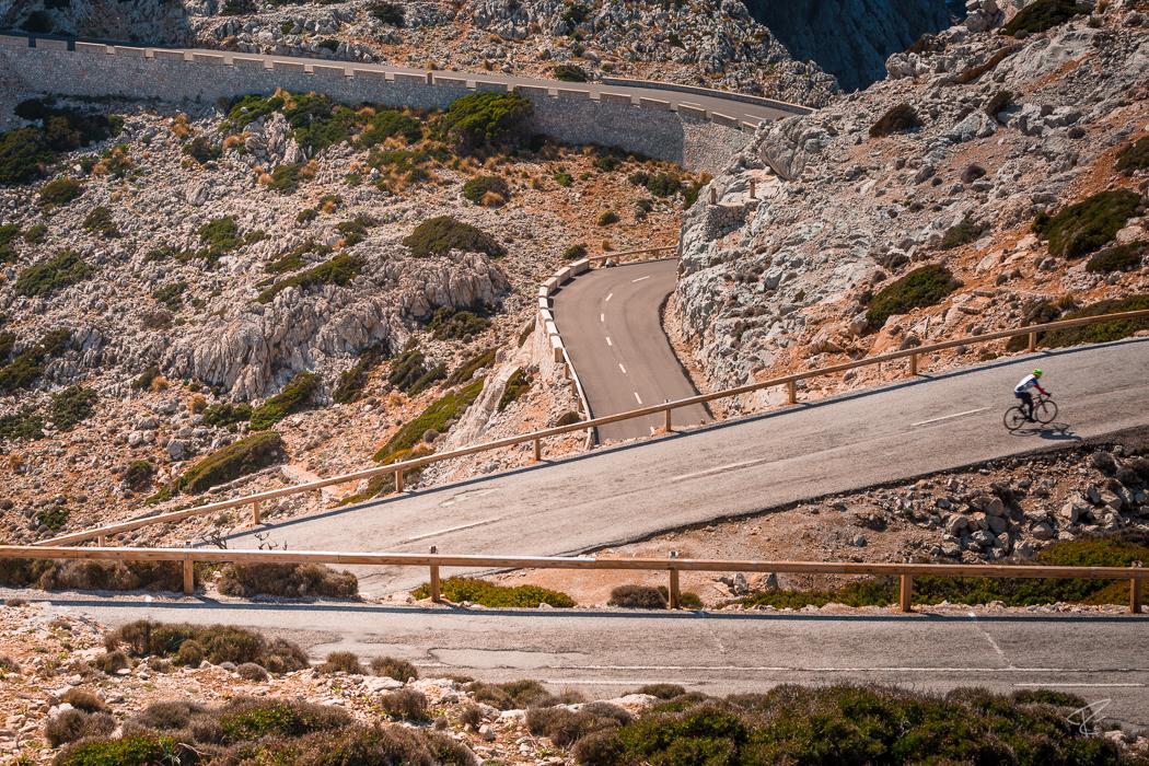 Mallorca Cap Formentor Tramuntana cycling road cliffs Spain