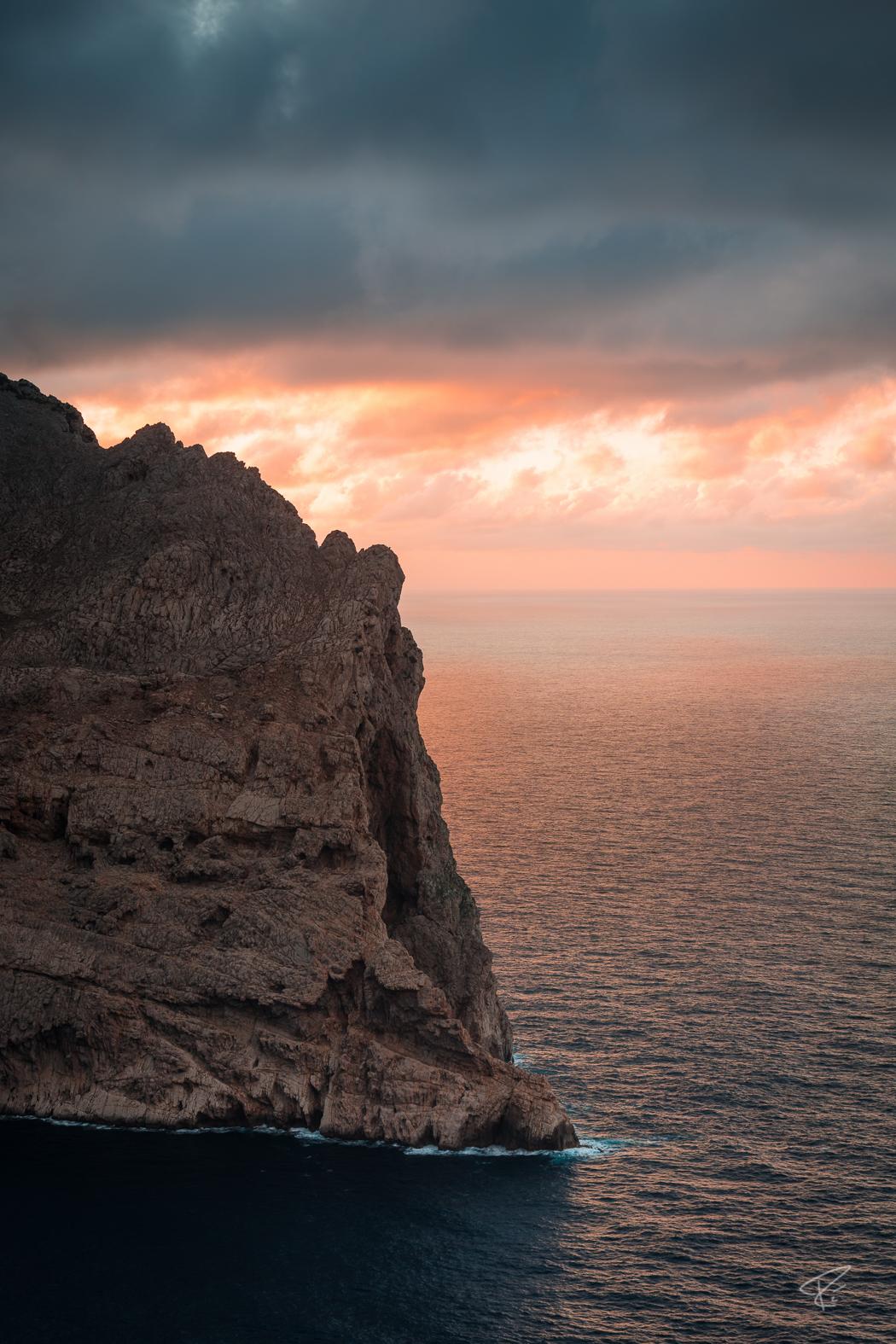 Mallorca Cap Formentor sunset Tramuntana ocean cliffs Spain