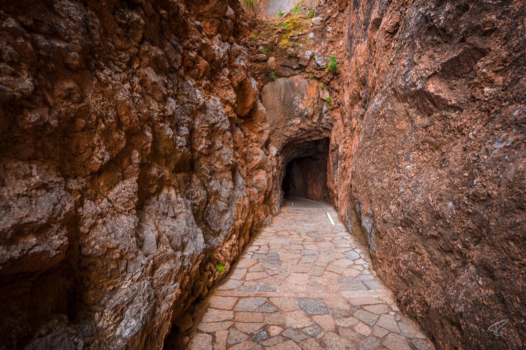 Mallorca Torrent de Pareis Sa Calobra Serra de Tramuntana tunnel