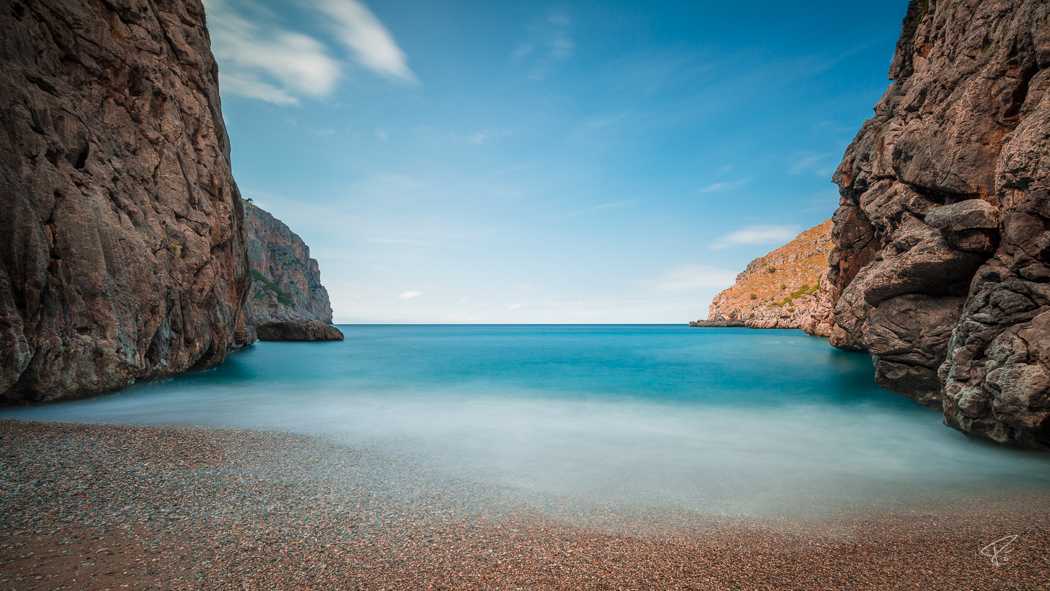 Mallorca Torrent de Pareis Sa Calobra Serra de Tramuntana ocean beach
