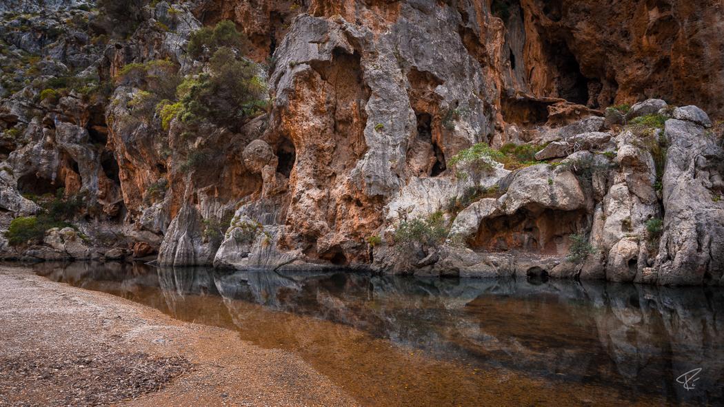 Mallorca Torrent de Pareis Sa Calobra Serra de Tramuntana canyon water