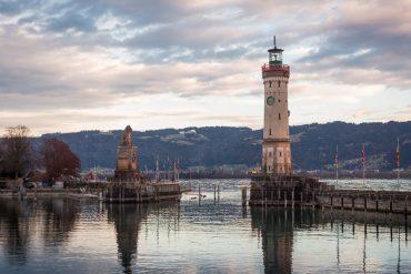 Lindau Germany Bodensee Lake Constance Hafen Löwe Leuchtturm