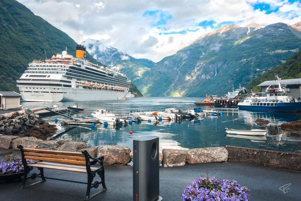 Geirangerfjord Norway Geiranger cruise ship