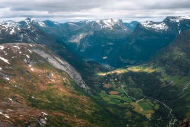 Geirangerfjord Norway Geiranger Dalsnibba view mountains