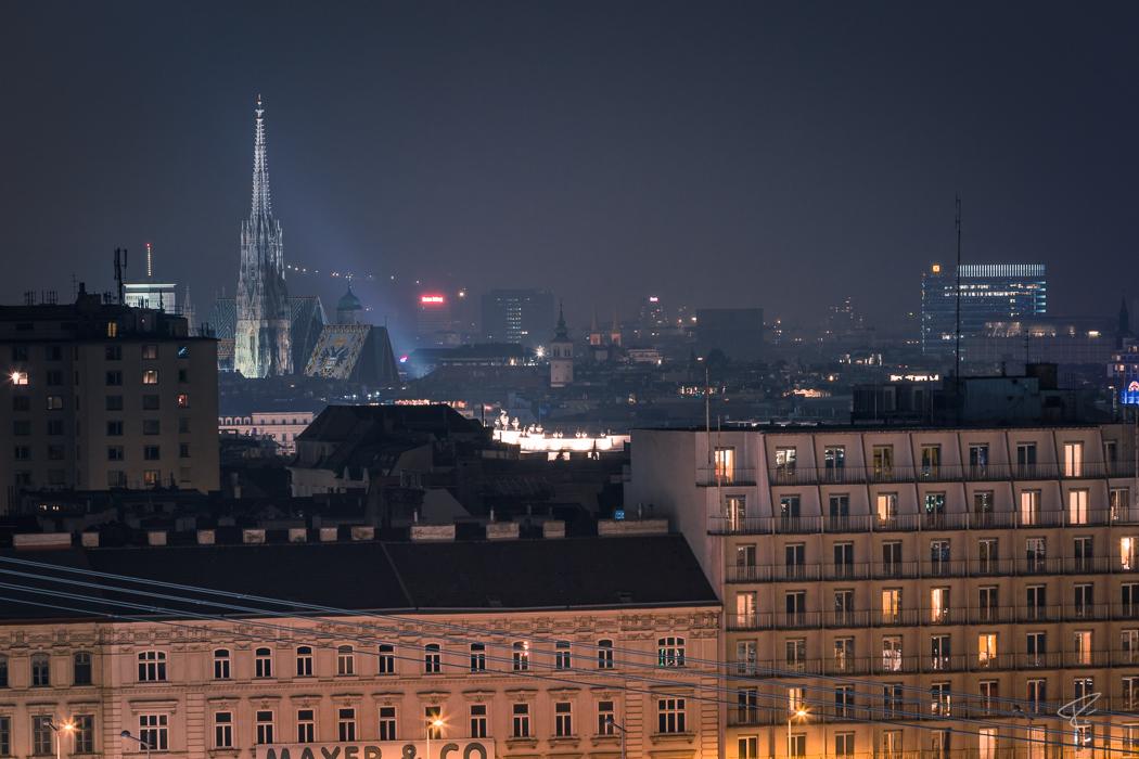 Vienna Stephansdom Night