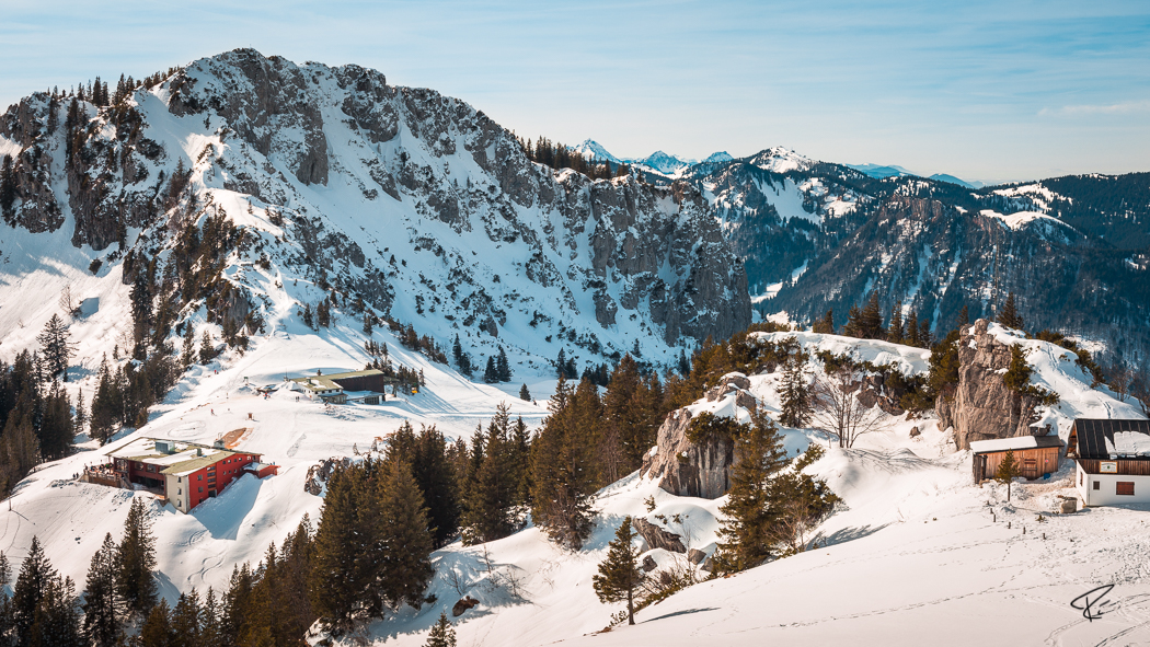 Kampenwand Chiemgauer Alpen Sonnenalm Winter