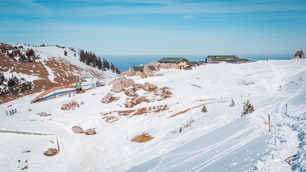 Kampenwand Chiemgauer Alpen Steinlingalm Winter
