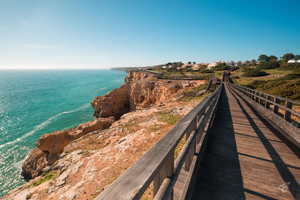 Algarve Portugal Algar Seco Boardwalk Weg Coast Küste
