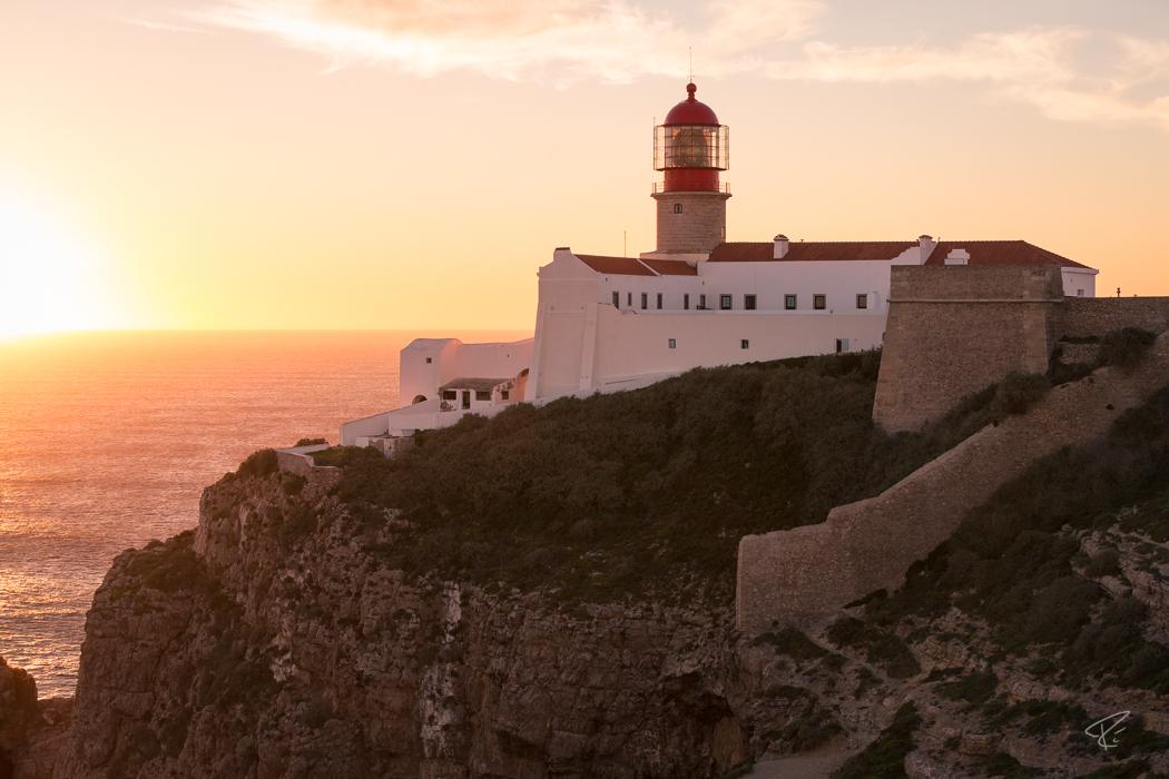 Algarve Portugal Cabo De São Vicente lighthouse Leuchttrum