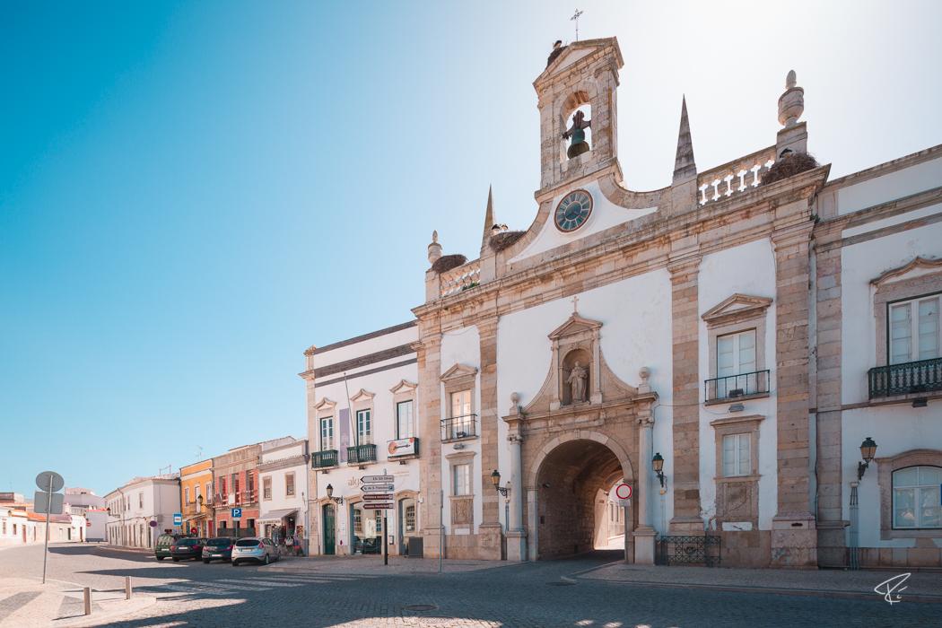 Algarve Portugal Faro city gate Stadttor