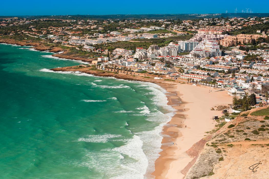 Algarve Portugal Praia Da Luz beach Strand view Aussicht