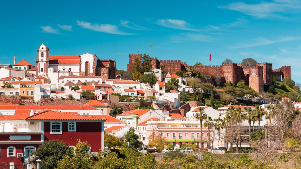 Algarve Portugal Silves castle fortress Burg Festung church Kirche