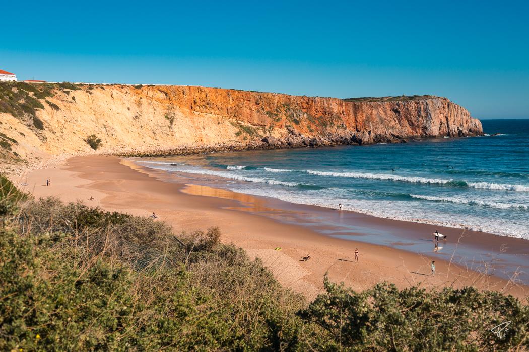 Algarve Portugal Praia da Mareta beach Strand surfing