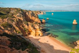 Algarve Portugal Praia do Camilo beach Strand Lagos