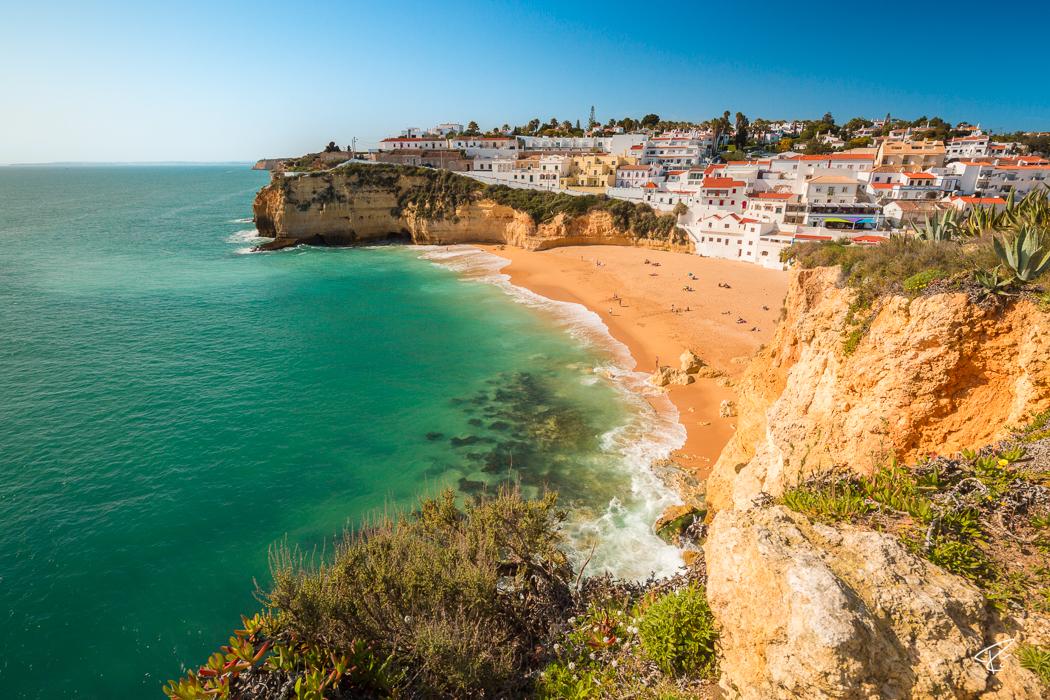 Algarve Portugal Praia do Carvoeiro beach Strand