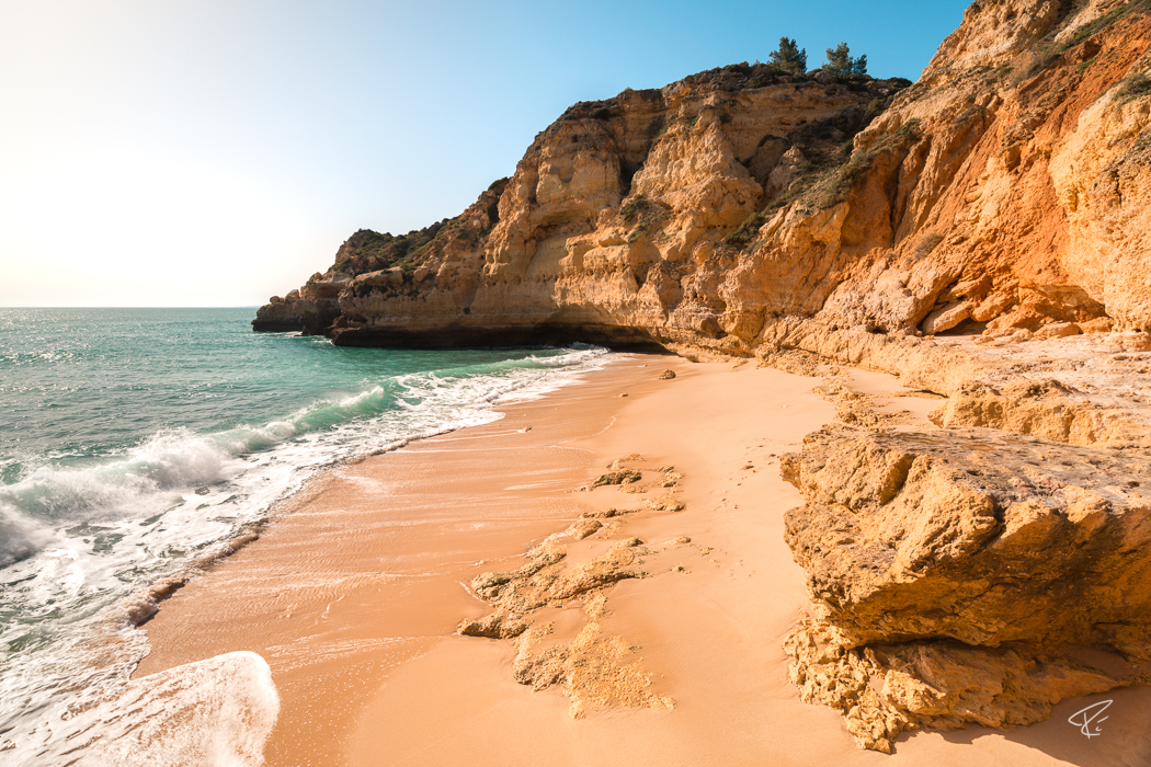 Algarve Portugal Praia do Paraiso beach Strand Carvoeiro