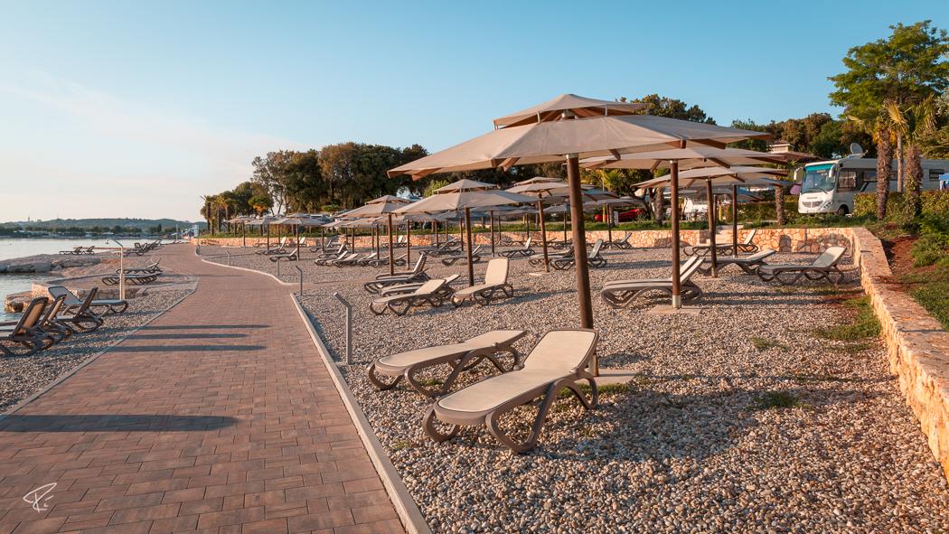 Val Saline Camping Rovinj Beach Stand