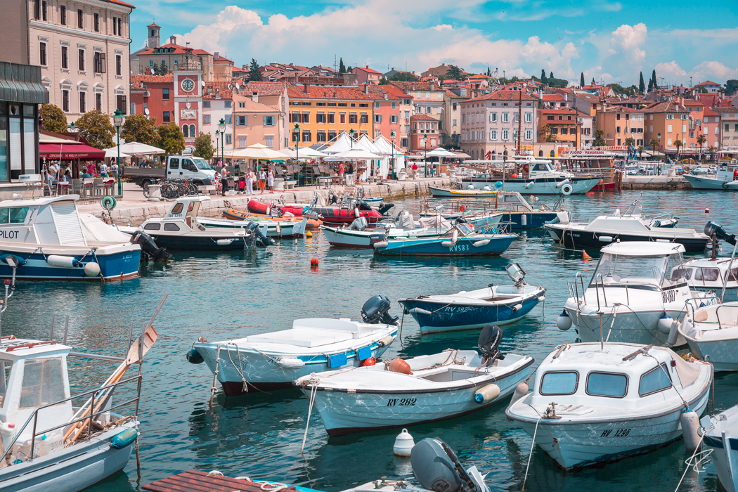 Rovinj Istria Croatia Hafen harbor port boats