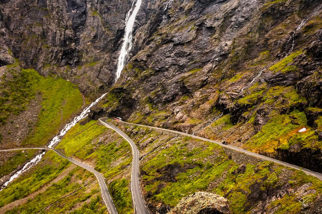 Norway Trollstigen Road Stigfossen Waterfall