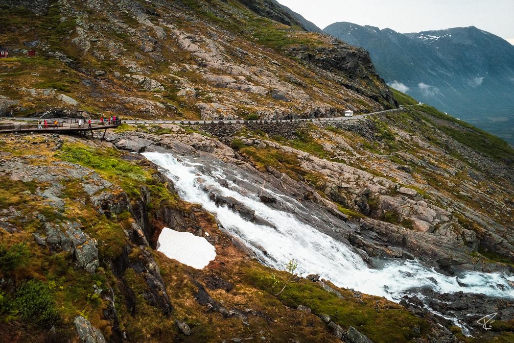 Norway Trollstigen Stigfossen Waterfall