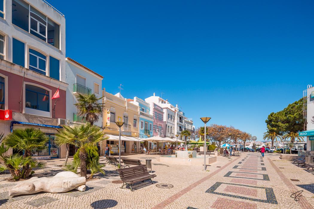 Lagos Algarve Portugal shopping street Einkaufsstraße