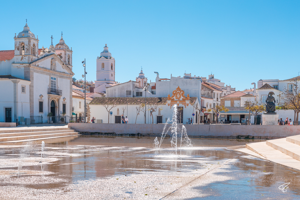 Lagos Algarve Portugal Praça Infante Dom Henrique square Platz