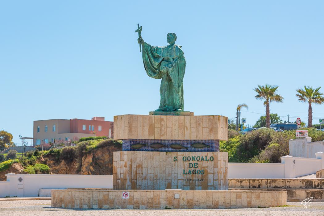 Lagos Algarve Portugal Estátua de São Gonçalo Statue