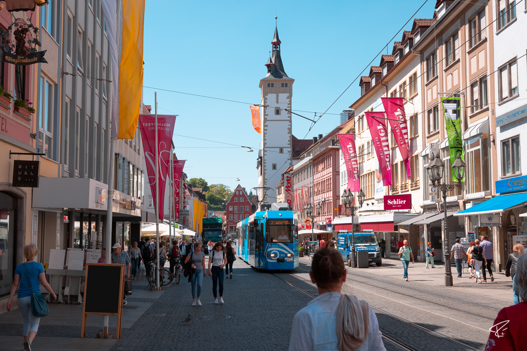 Würzburg Bayern Fußgängerzone