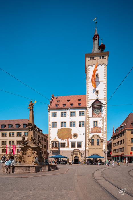 Würzburg Bayern Rathaus City hall
