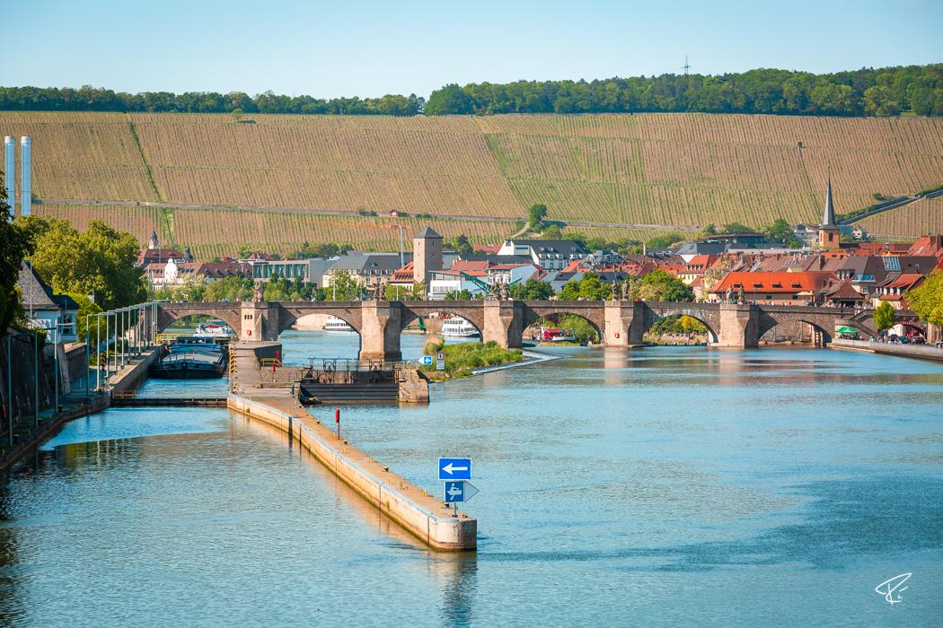 Würzburg Bayern Alte Mainbrücke