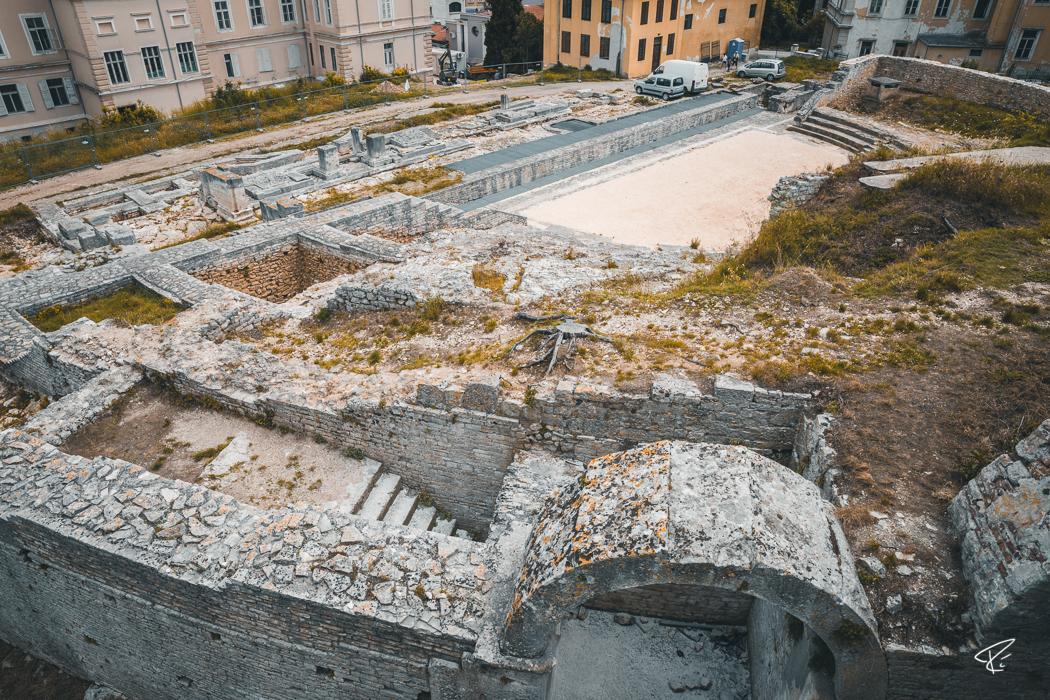 Pula Istria Croatia Römisches Theater Roman Theater