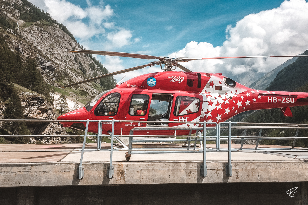 Zermatt Switzerland helicopter