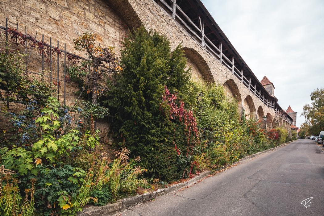 Rothenburg ob der Tauber Bayern Stadtmauer city wall