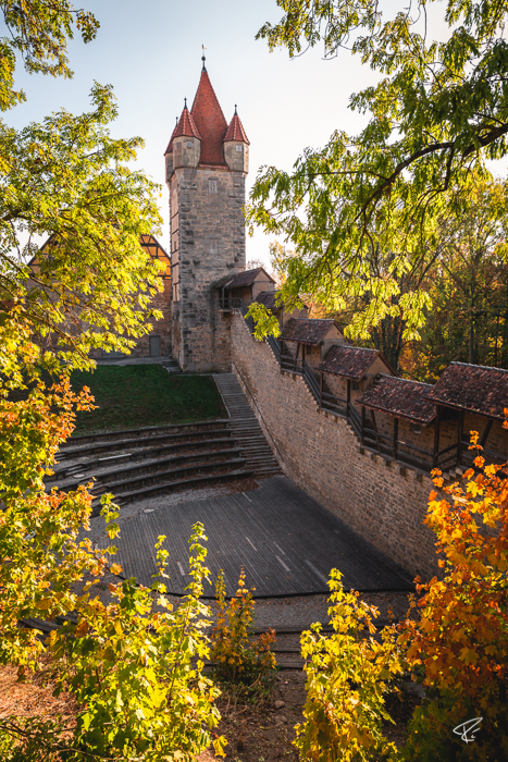Rothenburg ob der Tauber Bayern Stadtmauer city wall
