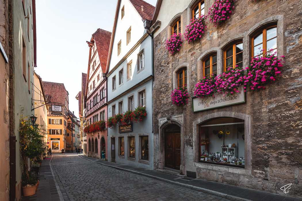 Rothenburg ob der Tauber Bayern Fachwerkhäuser