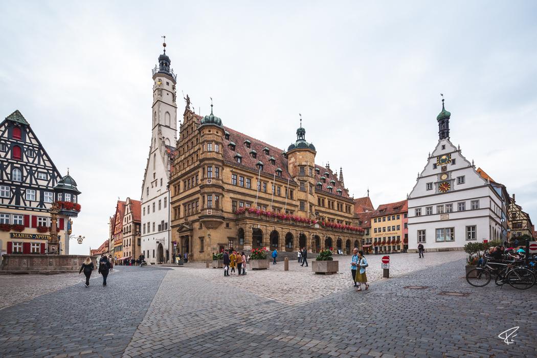Rothenburg ob der Tauber Bayern Rathaus city hall