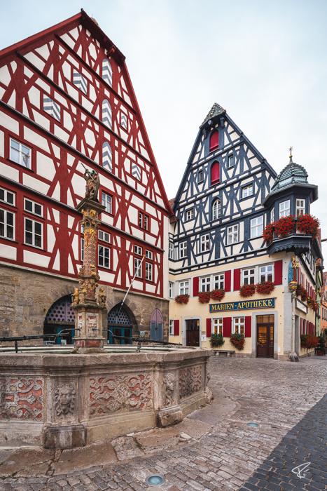 Rothenburg ob der Tauber Bayern St. Georgs Brunnen