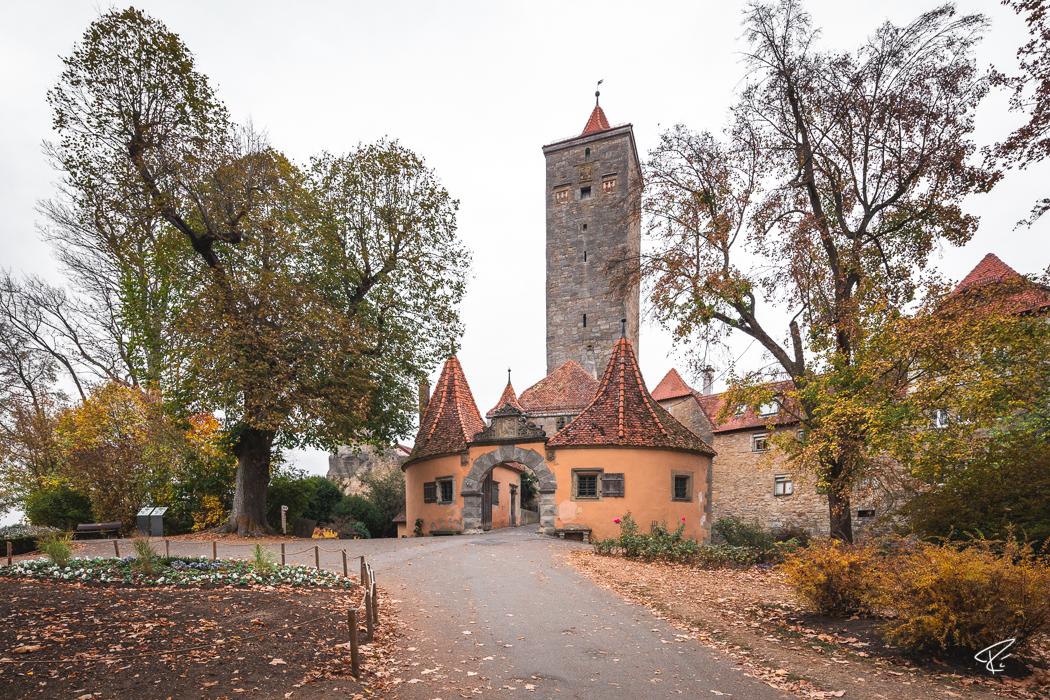 Rothenburg ob der Tauber Bayern Burgtor
